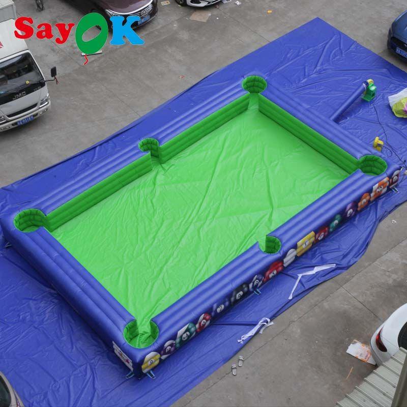 Aufblasbare Billard Ball Feld für Kinder Spielen Billard Spiel mit luft gebläse für Kommerziellen/Vermietung/Spielplatz/Home