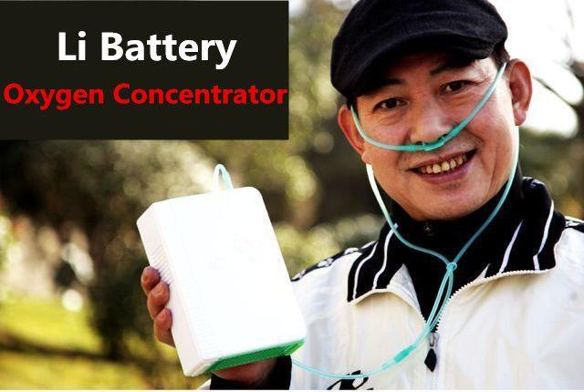 Au lithium/Li Batterie D'oxygène Concentrateur DC12V Utilisation de Voyage Portable O2 Générateur Pour L'utilisation des Soins de Santé D'oxygène Faisant La Machine