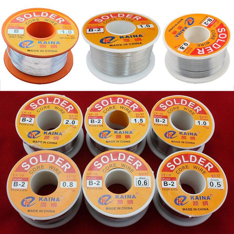 New 63/37 Rosin Core Solder Wire FLUX 2.0% Rosin Core Welding Tin Lead Solder Iron Wire Reel 0.5mm/0.6mm/0.8mm/1.0mm/1.2mm/1.5mm