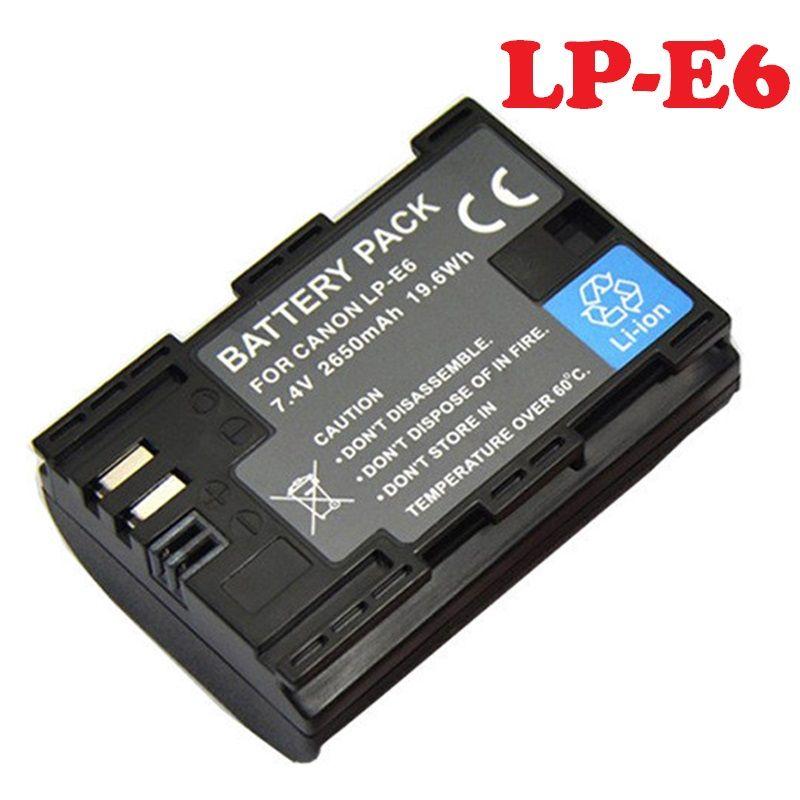 Batterie LP-E6 LPE6 pour Canon EOS 5D Mark II 2 III 3 6D 7D 60D 60Da 70D 80D DSLR EOS 5DS appareil photo numérique Lithium Rechargeable nouveau