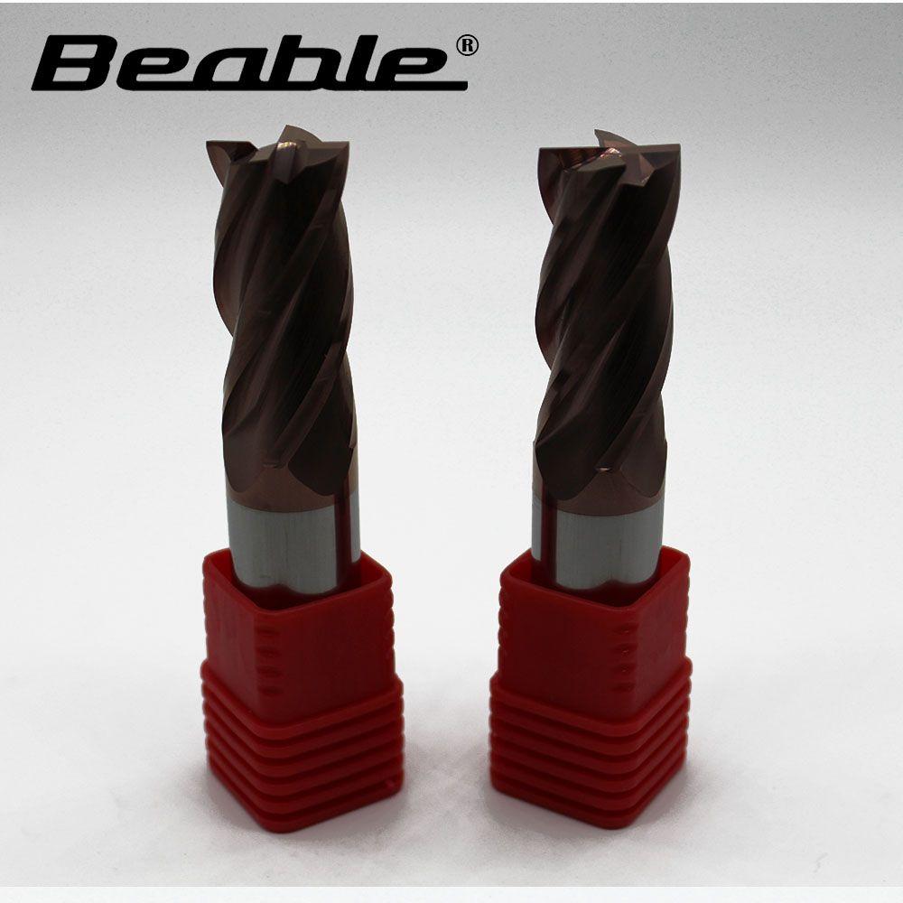 Beable werkzeuge 20*100 4 Flöte ende mühle HRC55 hartmetall-schaftfräser cnc fräsen cutter messer für metall fräsen werkzeuge