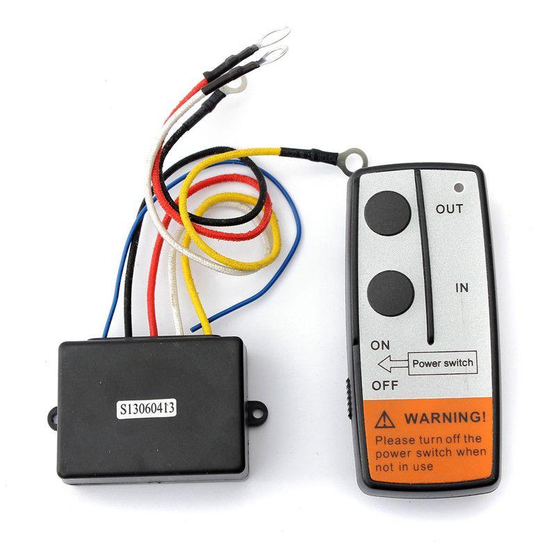Wireless Winch Remote Control Kit 50ft For Jeep ATV SUV UTV 12V Switch Handset Receiver Transmitter For/Truck/ATV/SUV Auto Winch