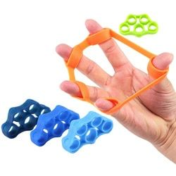6pcs Finger resistance bands Hand Gripper Forearm Wrist Training Stretcher Exercise Pull Ring Grips Expander Fitness Equipment