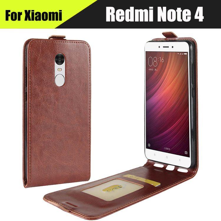 EiiMoo Verical Flip Leather Phone Case For Xiaomi Redmi Note 4 Note4 Cover Pro Card Slot Funda Coque For Xiomi Redmi Note 4 Case