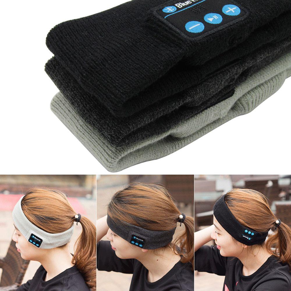 Nouvelle Arrivée Bluetooth Tricoté Hiver Chapeau casque Mains Libres Appel Musique Mp3 Haut-parleurs Bouchon Micro Magique Sport Chapeaux pour xiaomi yi ipad