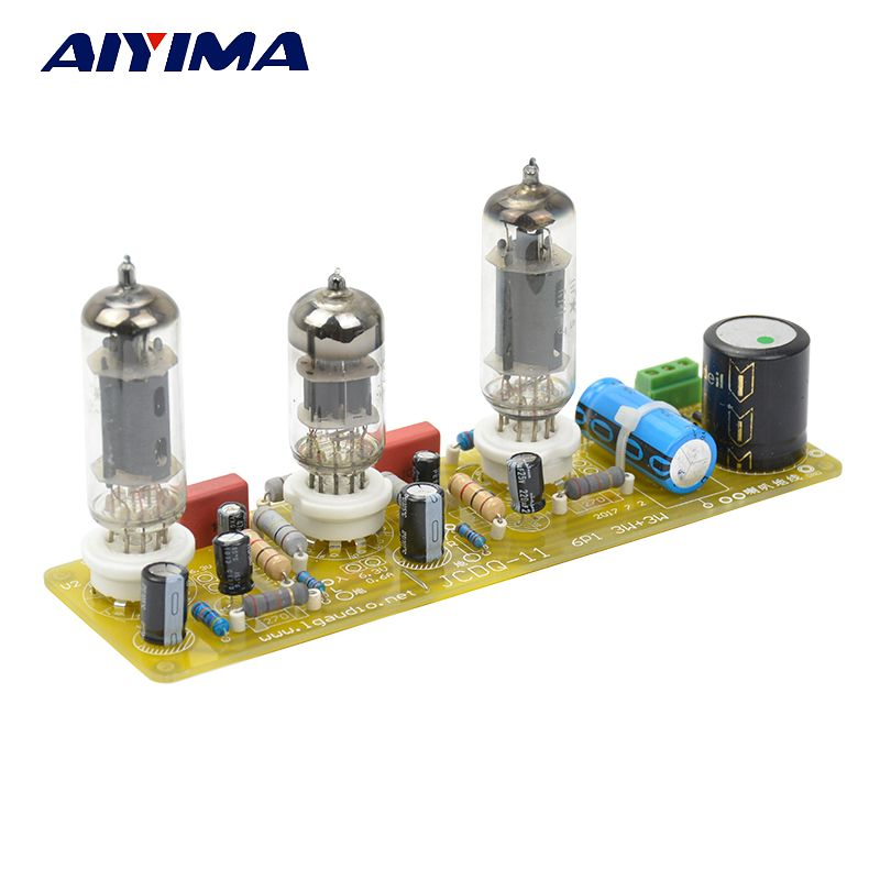 Aiyima Vacuum Tube amplifiers 6N1+6P1 Valve Stereo Amplifier Board Filament AC Power Supply + 3pcs Tubes