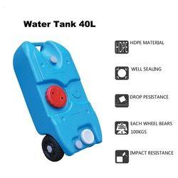 Ruedas portátil tanque de agua 40 litros tanque de agua dulce con accesorios autocaravana Camper RV yate barco caravana