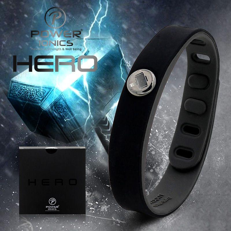 Power Ionics Hero Series Thor IDEA BAND 3000 ions Sports Waterproof Titanium Healthy Bracelet Wristband Balance Body
