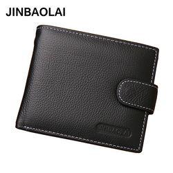 JINBAOLAI кожаные мужские кошельки, однотонный образец, стиль, кошелек на молнии, мужской держатель карт, кожа известного бренда, высококачестве...