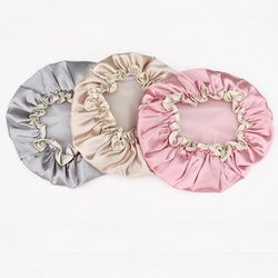 1 pc Belle Épais Femmes De Douche Satin Chapeaux Coloré De Bain Bonnets De Douche Cheveux De Couverture Double étanche Bonnet de Bain En Gros