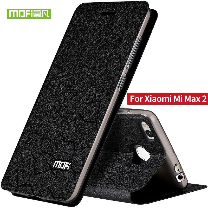 D'origine Mofi cas de téléphone pour Xiaomi Mi Max 2 Ultra mince flip mode de luxe de stand en cuir de couverture arrière pour Xiaomi Mi Max 2 6.44