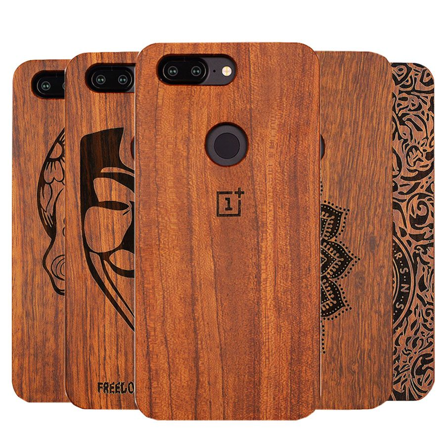 Unique OnePlus 5t A5100 Slim Bamboo Wood PC Back Cover Case For Oneplus Oneplus 5T Phone Cases