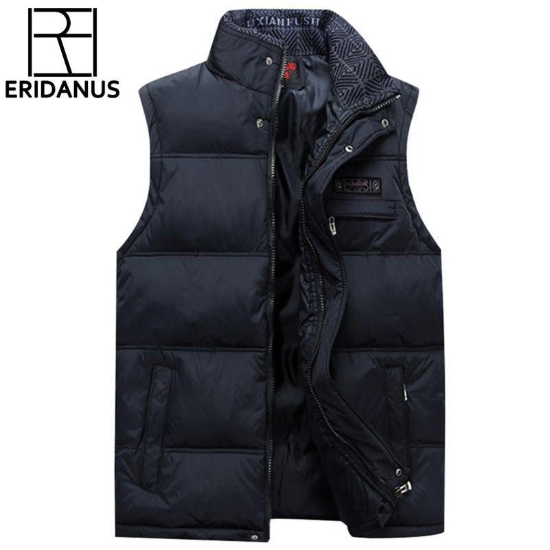 2017 Brand Men's Vest Jacket Coat Sleeveless Vests <font><b>Homme</b></font> Winter Casual Male Plus size 4XL Warm Jacket Vest Men Waistcoat X371