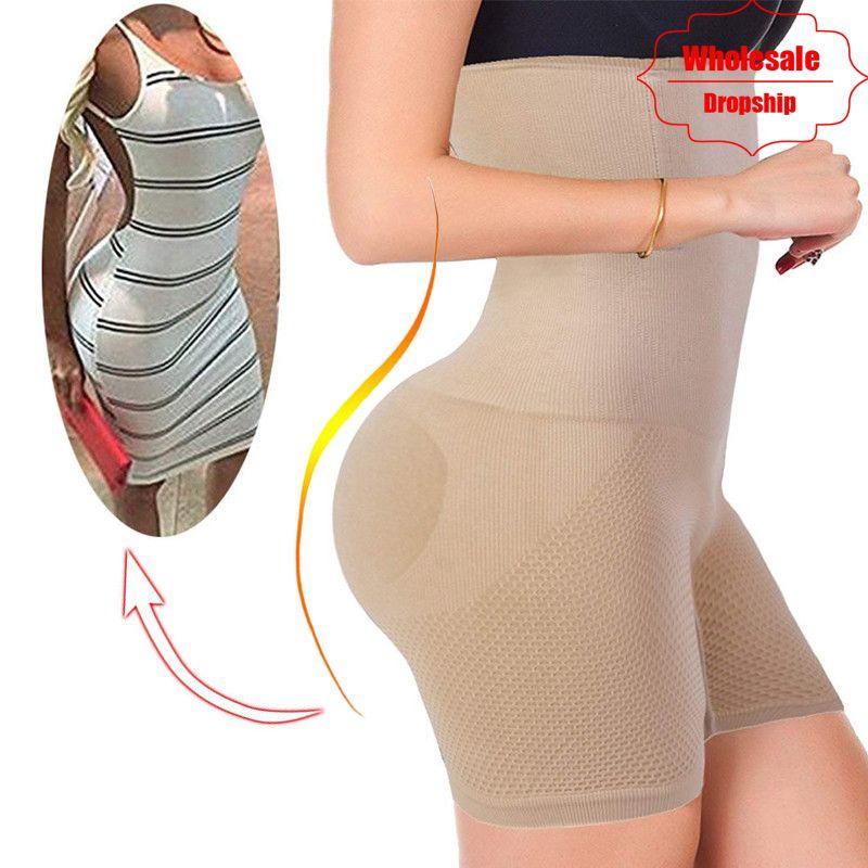 NINGMI Sexy Butt Lifter Femmes Minceur Shapewear Tummy Control Culottes Taille Haute Formateur Corps Shaper Garçonne D'alimentation Serré Court