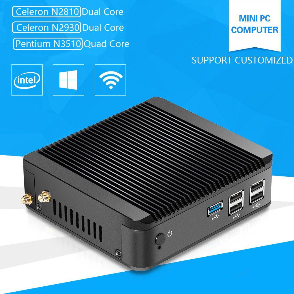 Pentium N3510 Mini PC Computer mit Celeron N2920 1,83 GHz Quad-Core Linux Windows10 4G Ram Hdmi Vga USB 3.0 Wifi