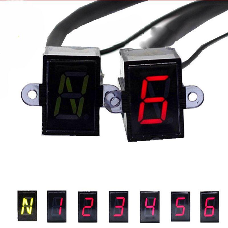 Super 6 Speed display Universal Digital off-road Motorcycle motocross light Neutral Gear Indicator display