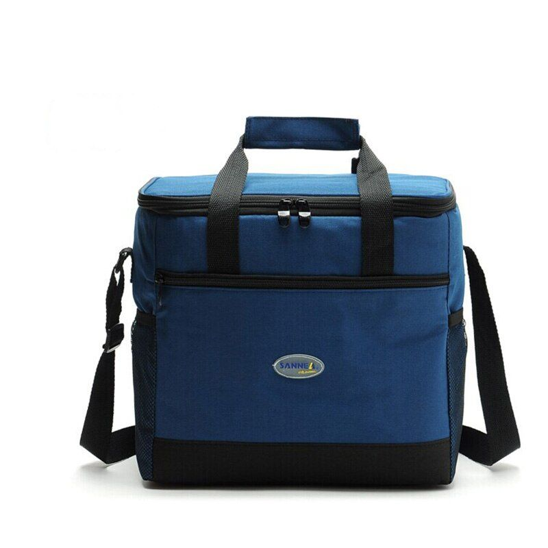 Large <font><b>Thicken</b></font> Folding Fresh Keeping Waterproof Nylon Cooler Bag Lunch Bag For Steak Insulation Thermal Bag Insulation Ice Pack