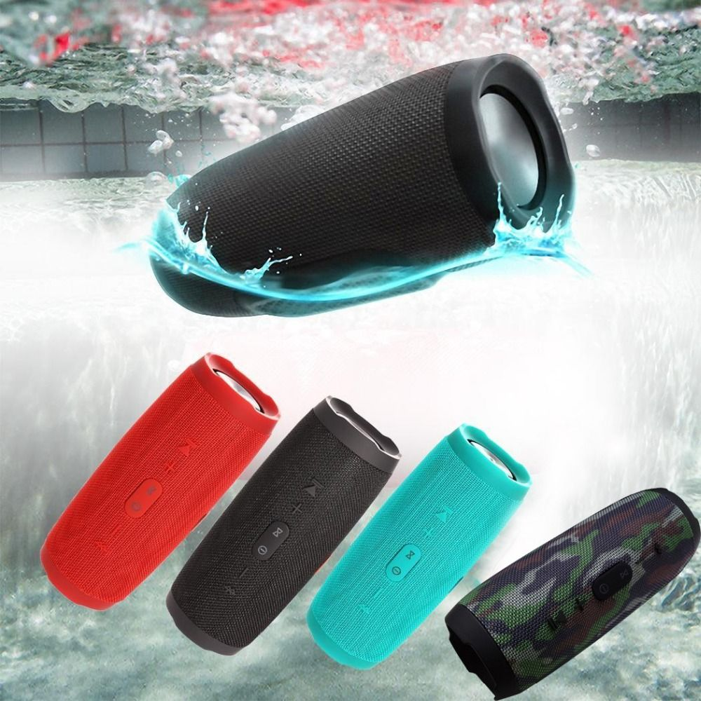 outdoor Portable Speakers Bass Stereo Wireless Subwoofer Bluetooth Speaker Column <font><b>Handsfree</b></font> TF Card AUX USB MP3 Player For Phone