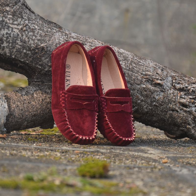 Zapatos de los niños Zapatos de Piel de Cuero Para Las Muchachas 7 Colores de Gran Tamaño 2017 Nueva Moda Niños Guisantes Zapatos Casuales Niños Caminando Alta Calidad