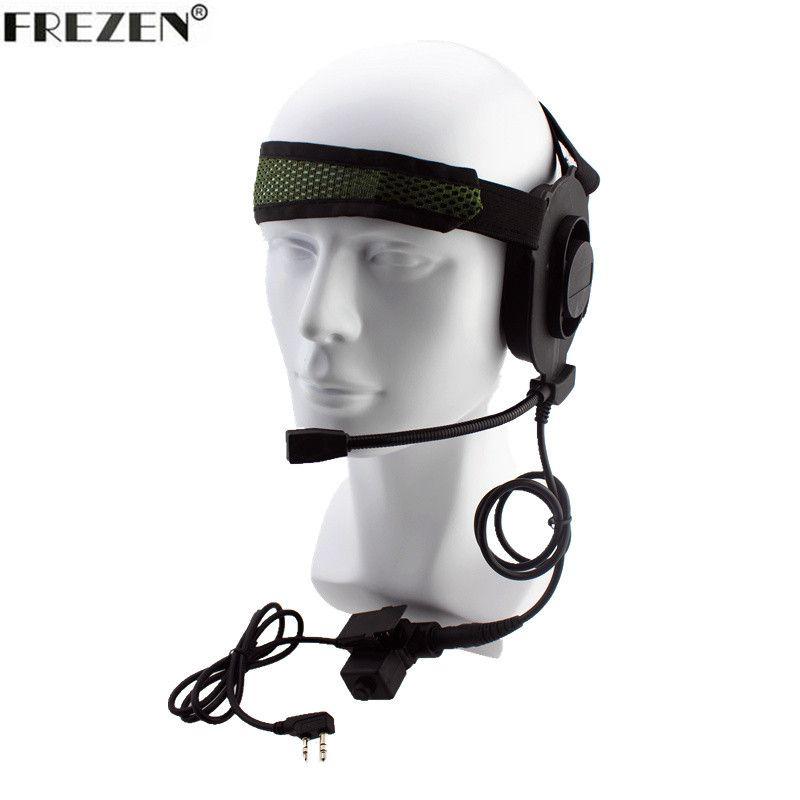 Tactical Bowman Elite II Radio Headset Earpiece With U94 Style PTT For Kenwood Portable Radio Baofeng UV-5R Walkie Talkie 2 Pin