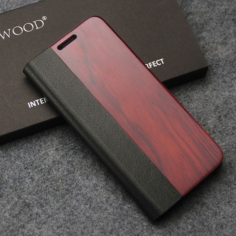 BOIS D'oeuf Flip étui pour Samsung Galaxy s8 Cas En bois coque de Protection En Cuir De luxe sac de téléphone De couverture De cas Pour Samsung s8