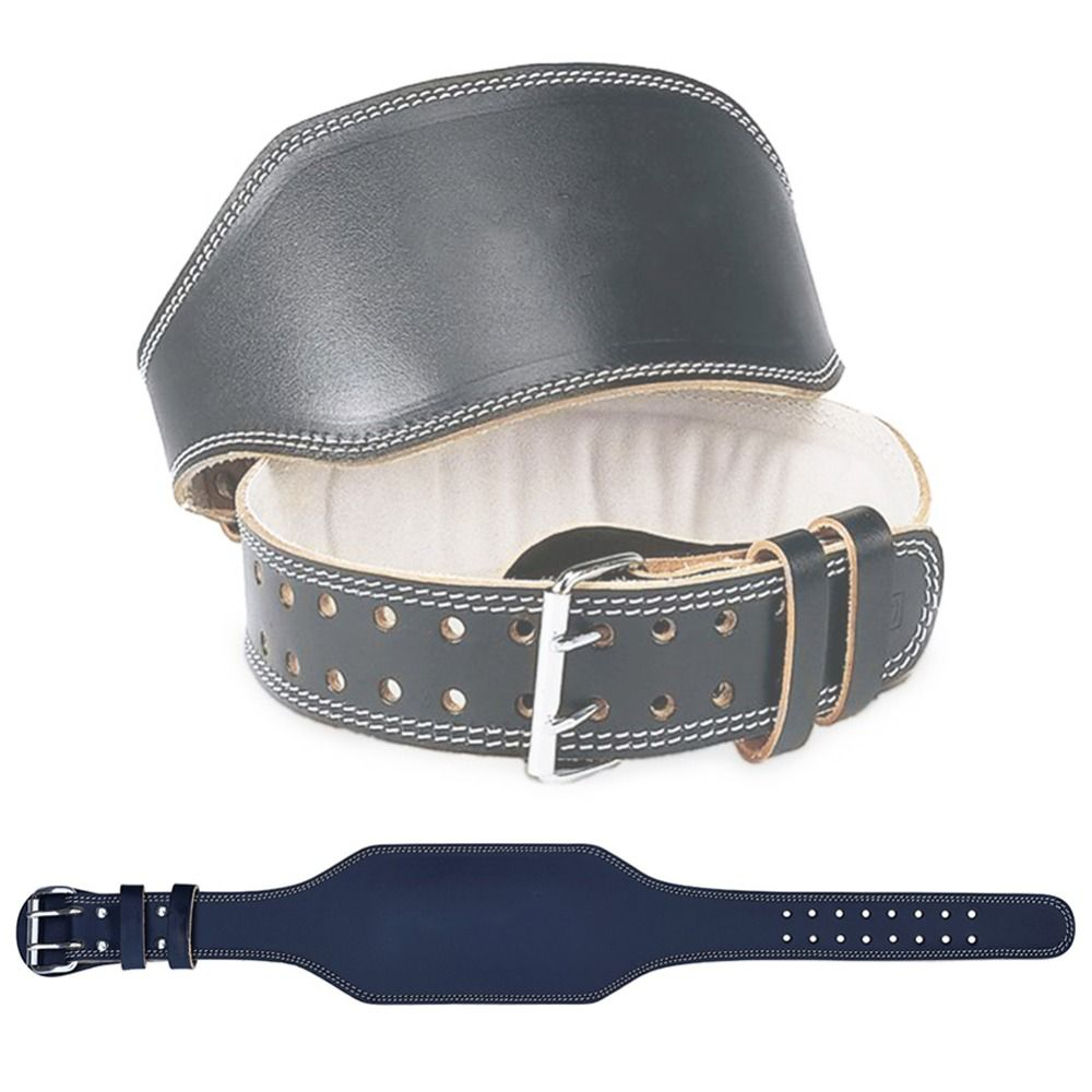 Leather Weightlifting Belt <font><b>Barbell</b></font> Powerlifting Squat Gym Belt Lumbar Protector Bodybuilding Muscle Training Weight Lifting Belt