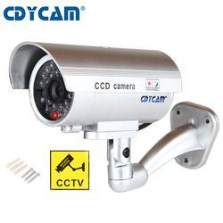 Водонепроницаемый манекен имитация CCTV камеры с мигающим светодиодный для наружного или внутреннего Реалистичного вида поддельные камеры ...