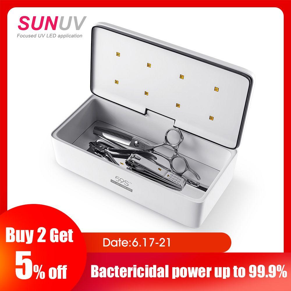 SUNUV 59 S UV stérilisateur boîte outils de beauté stérilisateur boîte de rangement S2 Portable désinfection boîte pour Salon Nail Art outils