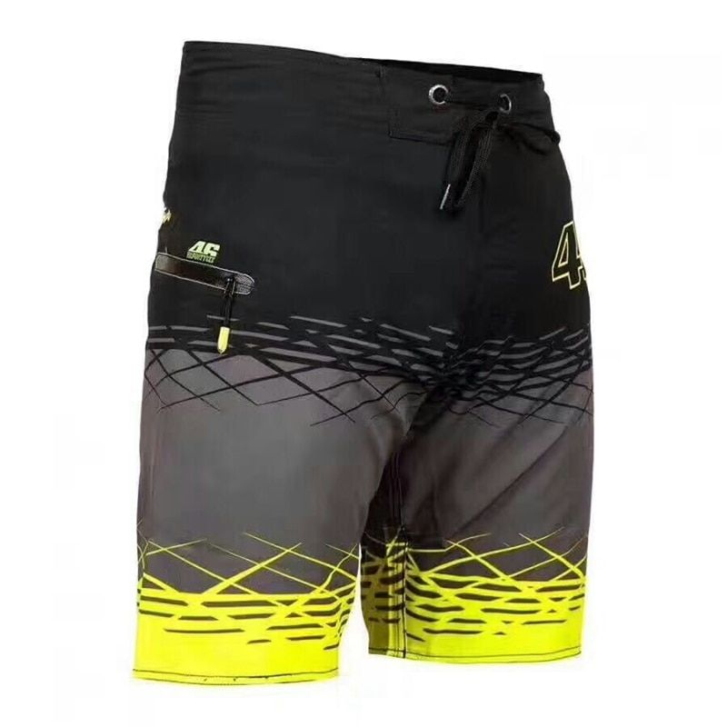 Summer Men's 100% Polyester Fashion Casual Shorts Beach Pants Motorcycle MotoGp Rossi VR46 Swimsuit Beach Pants vr46 Sweatpants