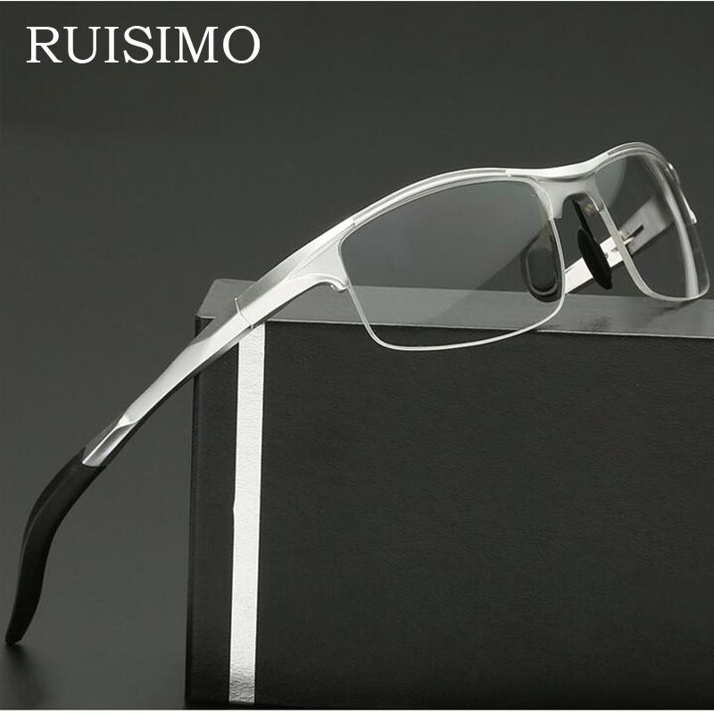 Aluminum Men Eyeglasses Fashion Myopia Optical Computer Glasses Frame Brand Design Plain Eye glasses oculos de grau femininos
