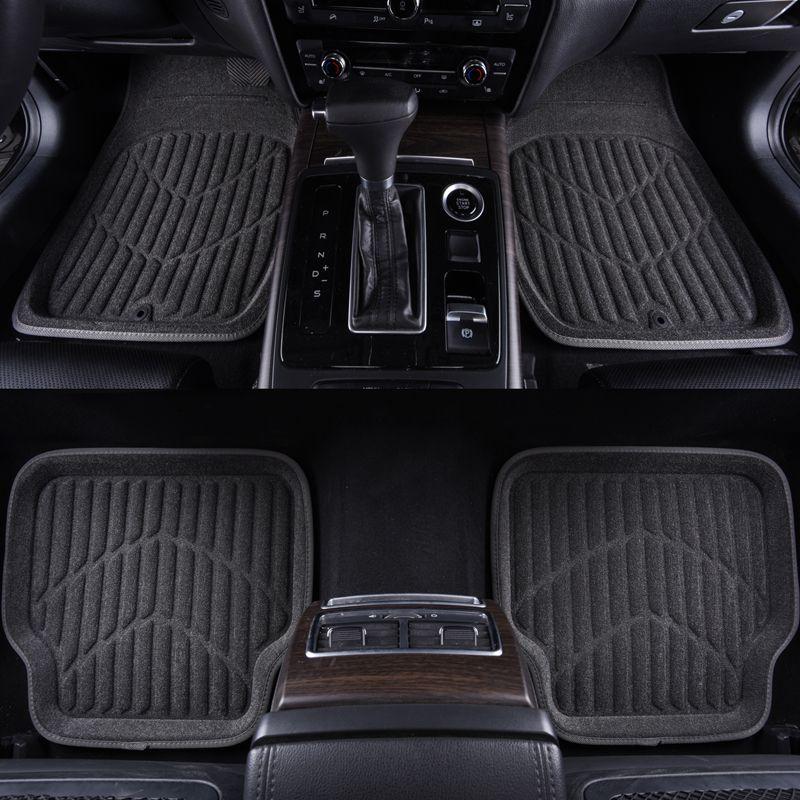 Car-pass Universal Car Floor Mats Black Rugs Fit For Most Cars Full Mats Front & Rear Auto Floor Mat