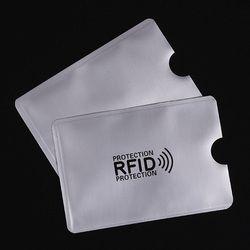 5 piezas Anti Rfid bloqueo Lock Reader Banco ID tarjeta Rfid protección Metal tarjeta de crédito titular aluminio 2018