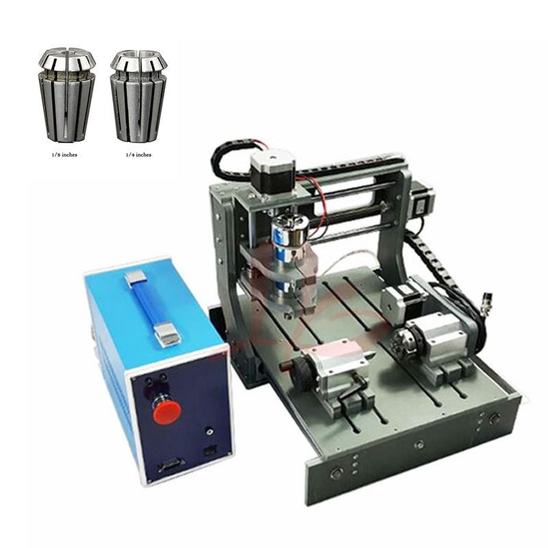 Desktop Mini CNC Router Joinery 2030 CNC Cutting Machine Woodworking Milling Lathe, free tax to Russia with collects