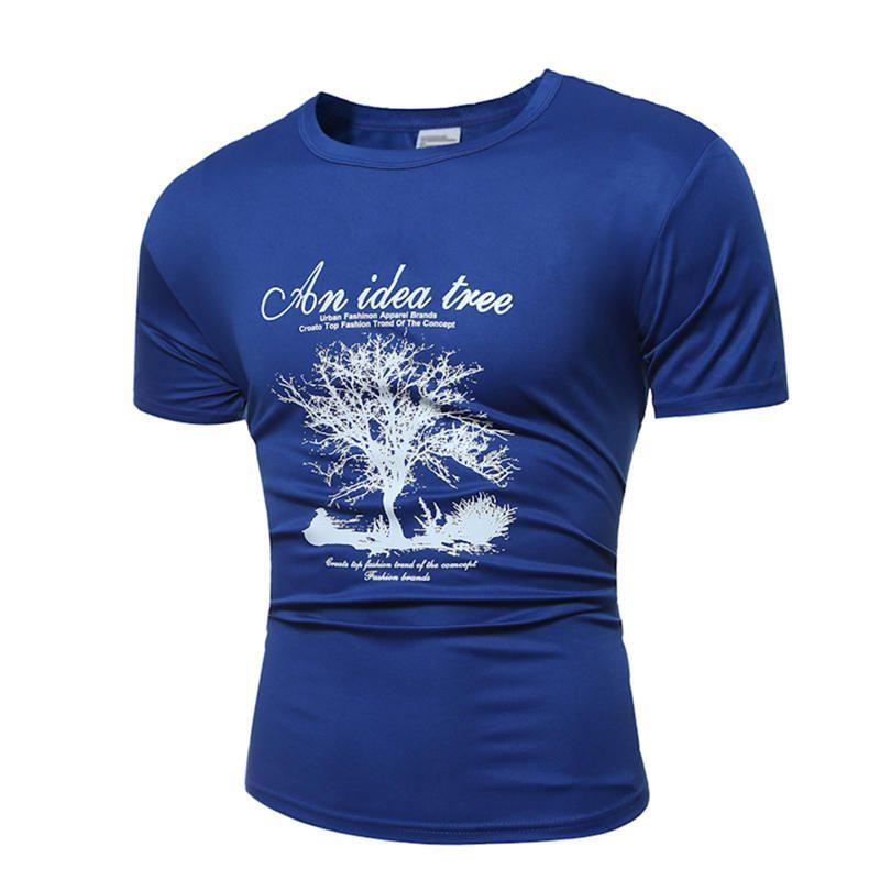Männer Casual T-shirt T-shirt Sommer Tops T O-ansatz Printed T-shirt XS XL Kurzarm Tops Heißer Verkauf 2017 1167