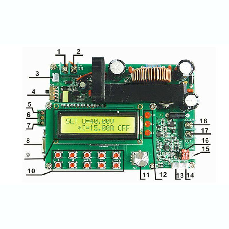 DPS-6015 einzigen ausgang programmierbare schalter stromversorgung 60 V 15A 900 Watt DC-DC TTL serielle schnittstelle