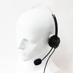 Xqf nuevo volumen ajustable 4 Pasadores centro de llamadas auricular monaural auricular RJ11 color negro