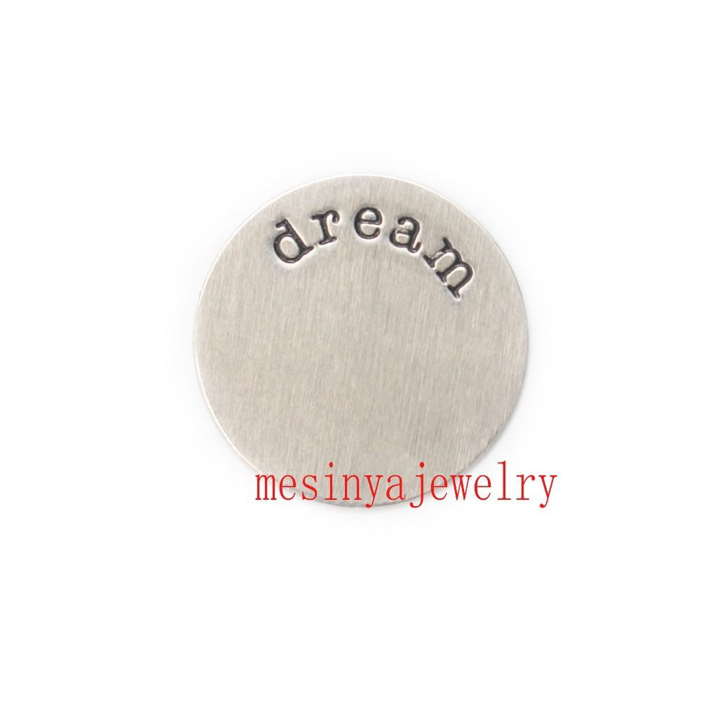 Hot sale free shipping jewelry 10pcs large 316L not cheap 304 dream plate for floating charm 30mm s.steel glass locket
