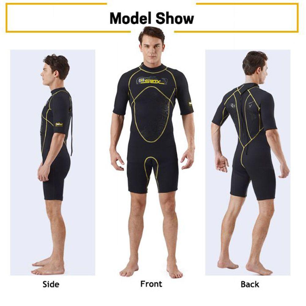 SLINX 1103 Men 3MM Keep Warm Diving Suit Sunblock One-Piece Short Sleeve Wetsuit Neoprene Scuba Anti UV Winter Swim Surf Wetsuit