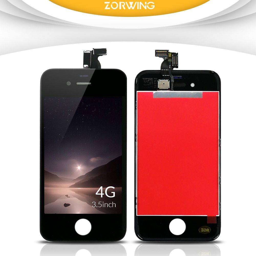 100% Pas de Dead Pixel LCD Écran Pour iPhone 4 Affichage Avec Digitizer Écran Tactile de Remplacement Assemblée Complet en Noir Blanc