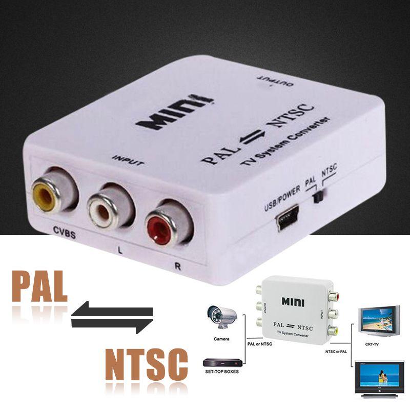 Neue Ankunft PAL/NTSC/SECAM PAL/NTSC Mini bidirektionale TV System Converter Switcher Unterstützt 1080 p Mayitr