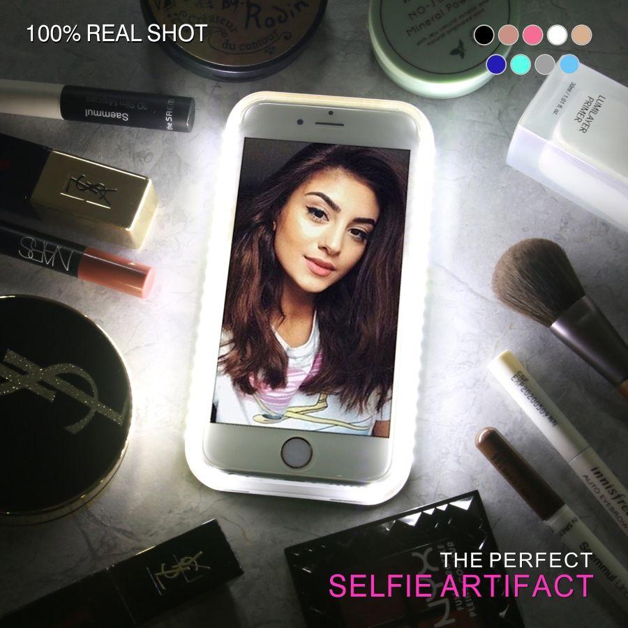 LED Cas de Téléphone pour iPhone 6 6 S 7 Plus Flash Selfie Light Up lumineux Luxe De Couverture De Téléphone Pour Apple je Téléphone 5 8 iphoneX Funda Coque