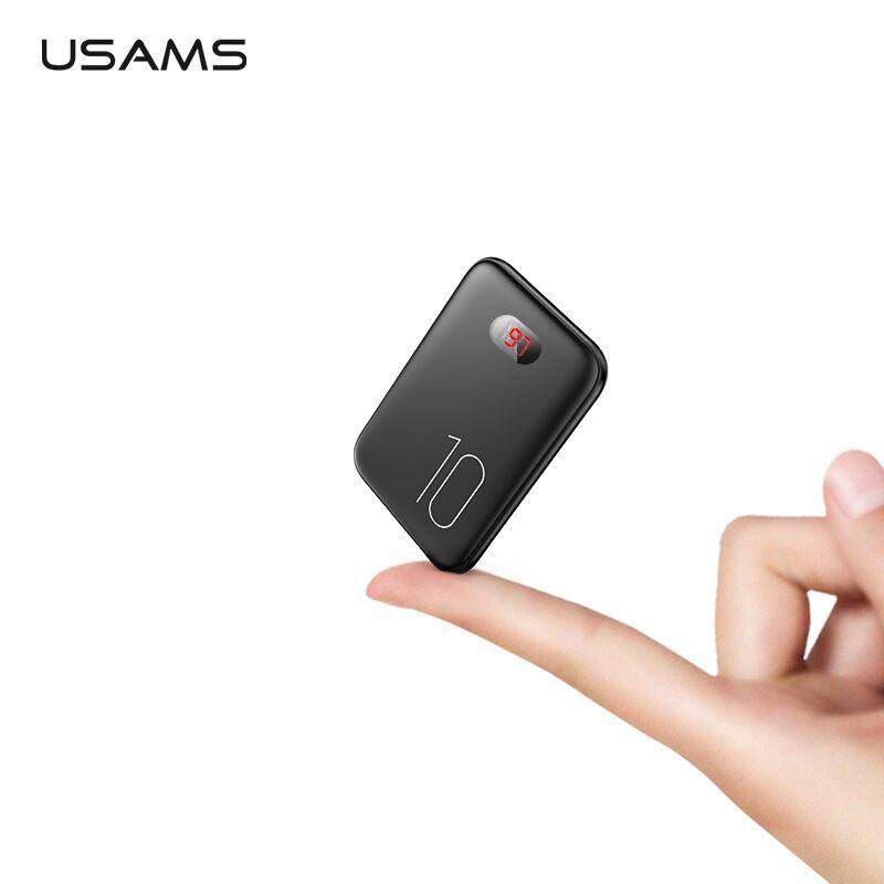 Batterie externe pour xiaomi mi iPhone, USAMS mi ni Pover Bank 10000mAh LED affichage Powerbank batterie externe pauvreté banque charge rapide