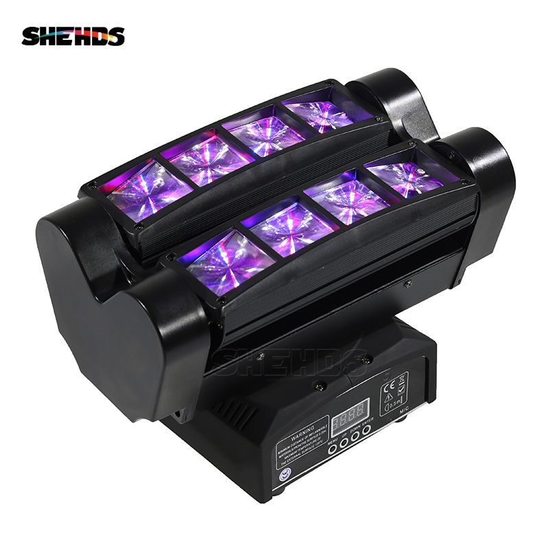 Mini LED Beam Spider 8x10W RGBW Moving Head Lighting Good Quality For Party Wedding Nightclubs Stage Lights Dj Disco Spider