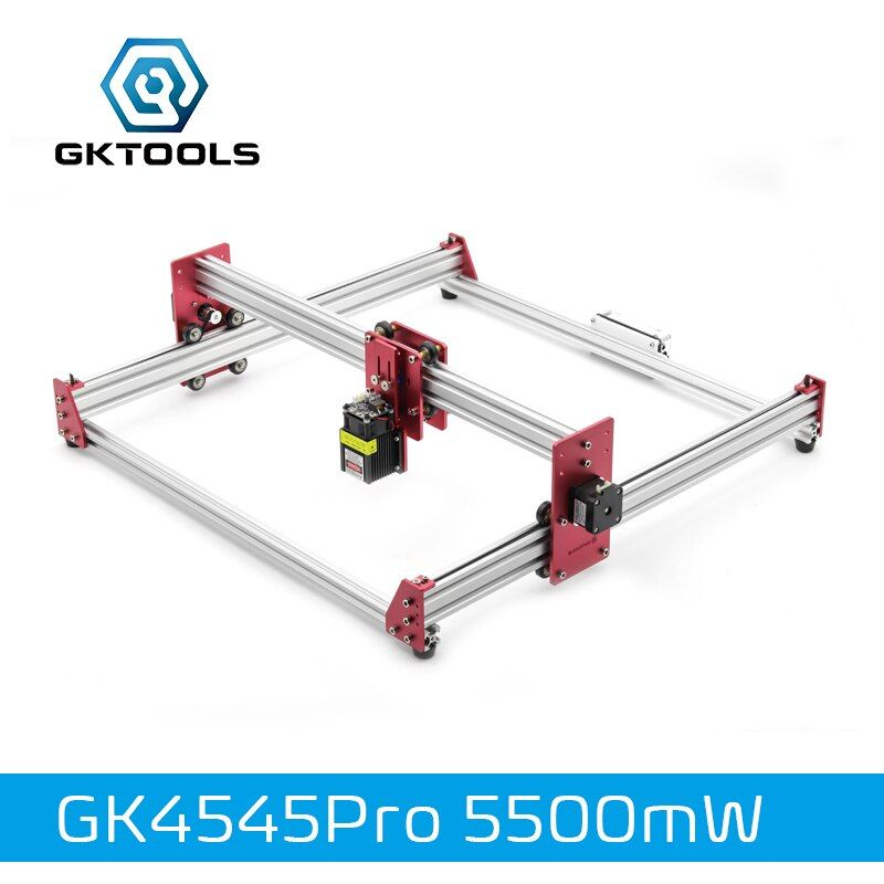 GKTOOLS All Metal 45*45cm 5500mW Wood Laser Engraver Cutter Engraving DIY Machine Mini CNC Printer PWM,Benbox GRBL EleksMaker