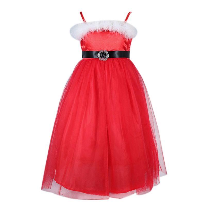 Neue Jahr Prinzessin Kleid Schöne Baby Mädchen Lange Rote Weihnachten kleider Nette Baby Mädchen Tüll Spitze Kleidung Baumwolle Kinder Weihnachten Gowm