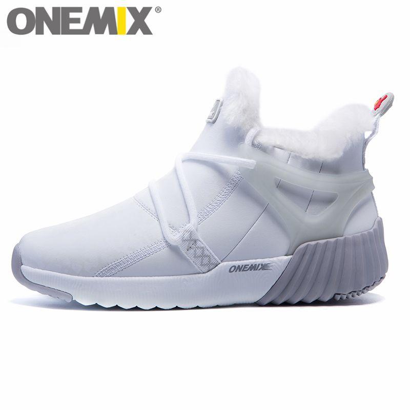 ONEMIX bottes de neige d'hiver pour femmes garder au chaud baskets pour chaussures femme chaussures de course confortables marche baskets de Sport en plein air