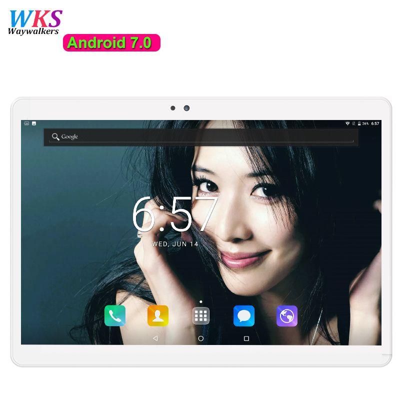 Freies Verschiffen Android 7.0 tablet pc 10,1 zoll Octa-core 4 GB RAM 64 GB ROM GPS 5.0MP 1920x1200 IPS 4G LTE MID geschenk Tabletten 10,1 10