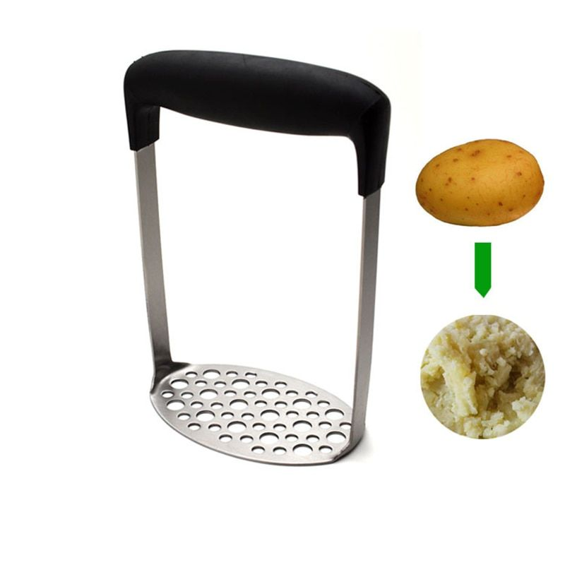 High Quality Stainless Steel Potato Masher Refried Beans/Pea/Ricer Crusher Mashed Potato Maker Apple Sauce Tools Kitchenware