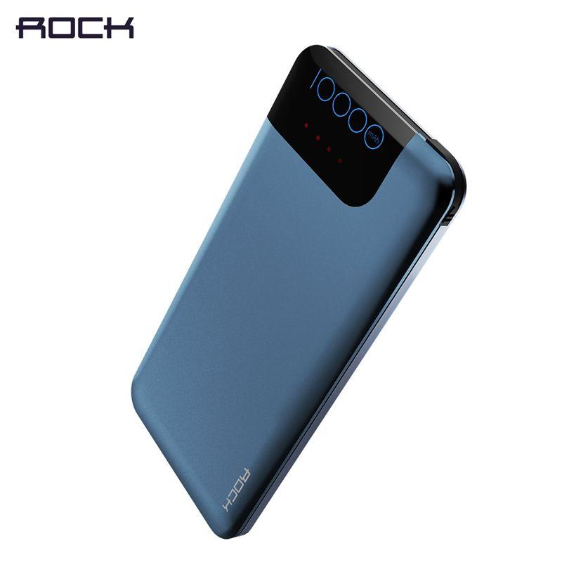 ROCK Fast Charge QC3.0 10000mAh Power Bank Portable Slim Quick Charge 3.0 Power Bank 10000 mAh with FCP Quick Charging