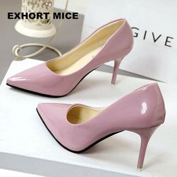 2018 New Fashion high heels women pumps thin heel classic white red nede beige sexy prom wedding shoes
